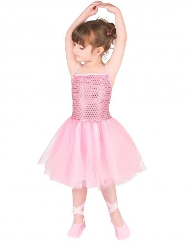Ballerina-Mädchenkostüm Tänzerin rosa-1