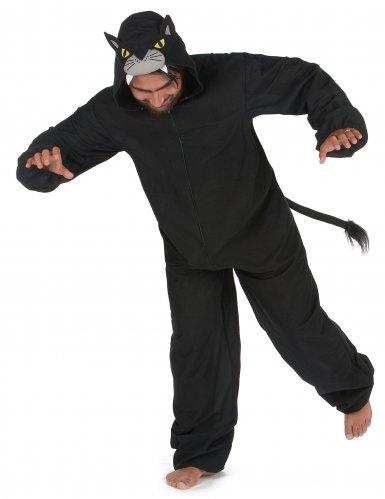 Schwarzer Panther Herrenkostüm Tier-Verkleidung schwarz-1