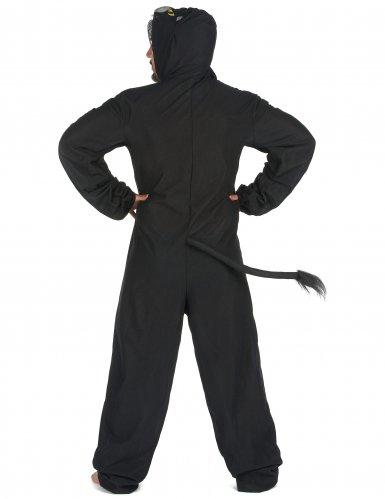 Schwarzer Panther Herrenkostüm Tier-Verkleidung schwarz-2