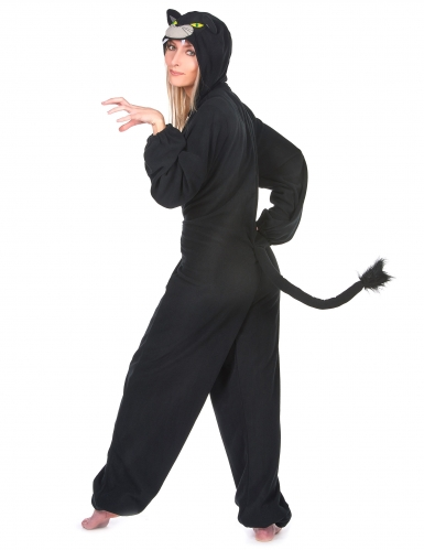 Schwarzer Panther Damenkostüm-Overall schwarz-2