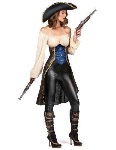 Stilvolles Piraten-Kostüm für Damen Seeräuberin bunt-1