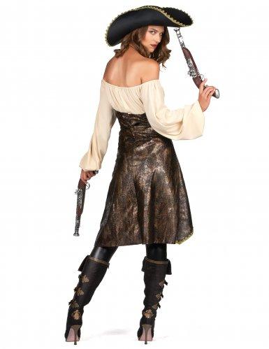 Stilvolles Piraten-Kostüm für Damen Seeräuberin bunt-2