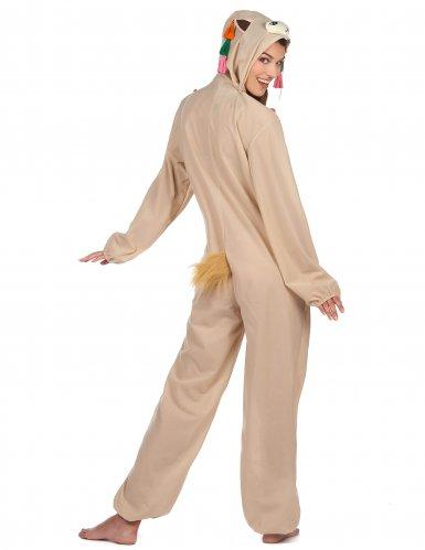 Lustiges Lama-Kostüm für Damen weiss-bunt-2