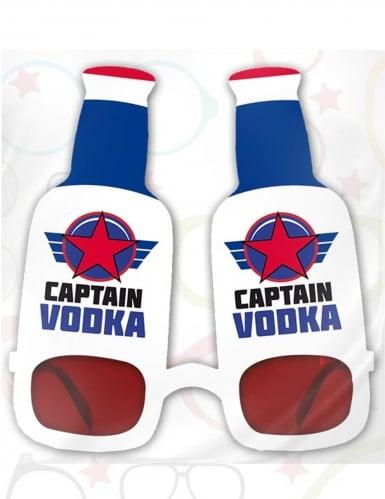 Captain-Wodka-Brille für Erwachsene rot-blau-weiß -1