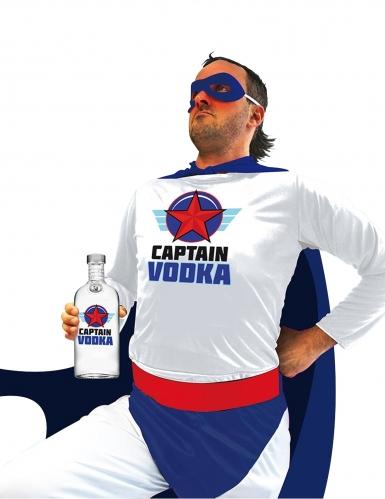 Superheld Captain Vodka für Herren hurmor weiss-blau-rot