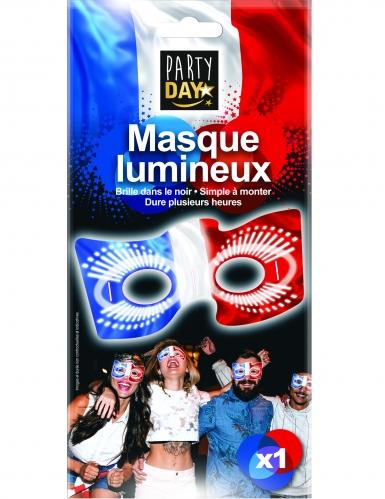 Frankreich-Leuchtmaske Augenmaske blau-weiss-rot