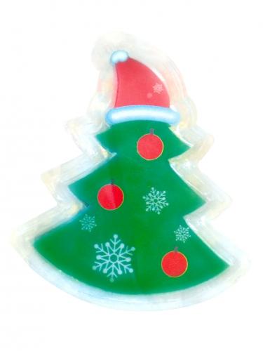 weihnachtsbaum led sticker deko gr n weiss rot 10x7cm. Black Bedroom Furniture Sets. Home Design Ideas