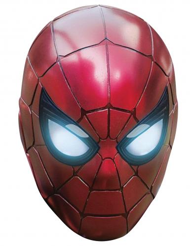 Iron Spider™-Pappkarton-Maske Kostümzubehör rot-schwarz