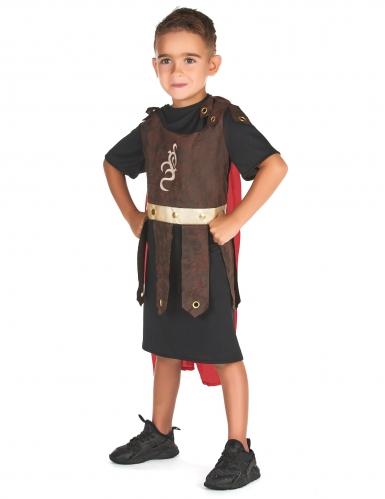 Kämpferisches Gladiatoren-Kostüm für Kinder schwarz-braun-rot-1