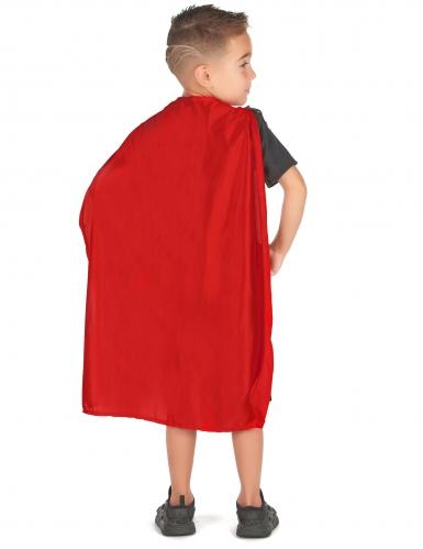 Kämpferisches Gladiatoren-Kostüm für Kinder schwarz-braun-rot-2