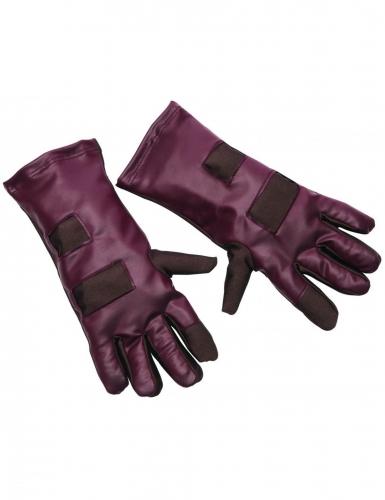 Star Lord™-Handschuhe Kostümzubehör für Erwachsene braun-rot