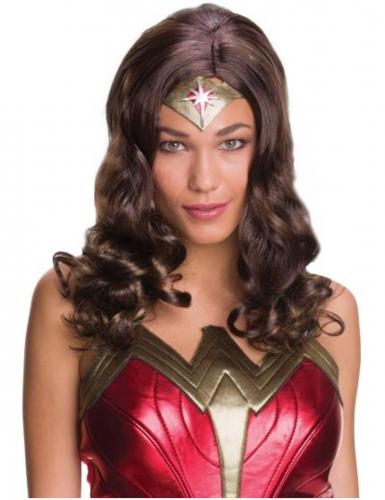 Wonder Woman™-Dc-Lizenzperücke für Damen braun