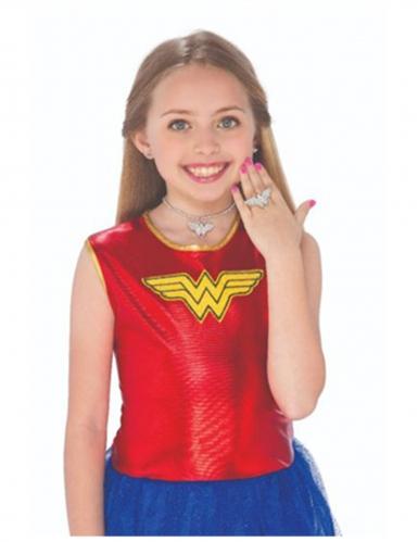 Wonder Woman™-Schmuckset für Mädchen 3-teilig silber