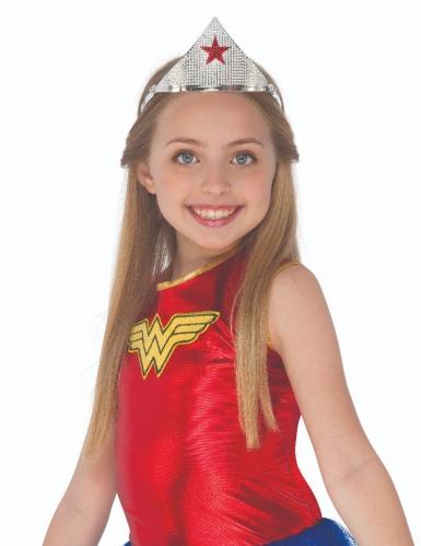 Tiara Wonder Woman ™-Kostümzubehör für Mädchen silber