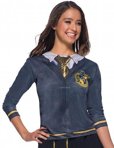 Hufflepuff-T-Shirt für Damen Harry Potter-Lizenz grau-gelb M