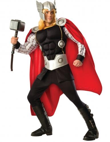 Prachtvolles Thor™-Deluxe-Herrenkostüm Lizenz rot-schwarz-silber