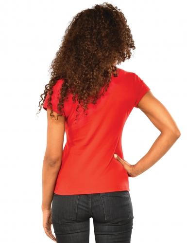 Spidergirl™-Damenkostüm-Set Shirt und Maske rot-1