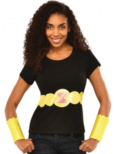 Black Widow™-Kostüm-Set für Damen schwarz-gelb