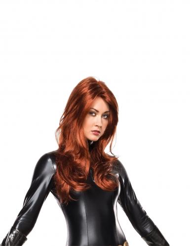 Black Widow™-Damen-Perücke Marvel™ rot-braun