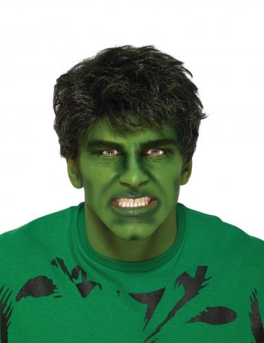 Hulk™-Perücke für Erwachsene Lizenz-Zubehör schwarz-grün