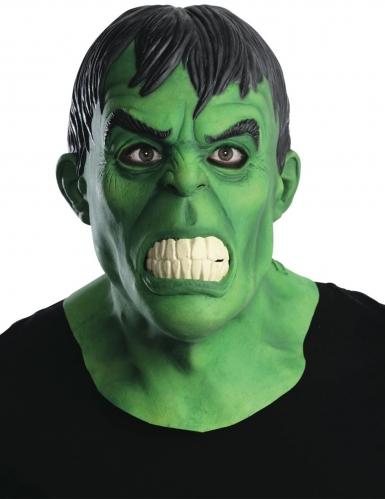 Hulk™-Maske Monster-Zubehör für Erwachsene grün-schwarz