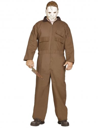 Michael Myers™-Lizenzkostüm für Herren Halloween-Verkleidung braun-weiss