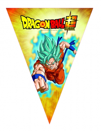 Dragon Ball Super™-Wimpel-Girlande Raumdekoration bunt 3,6m
