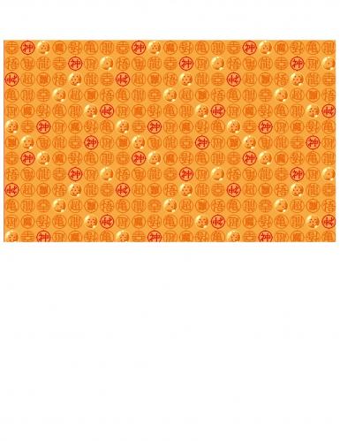 Dragon Ball Z™-Tischdecke Papier orange-rot 120x180cm