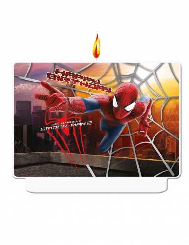 Spiderman2™-Geburtstagskerze The Amazing Spiderman bunt 8x3x10cm