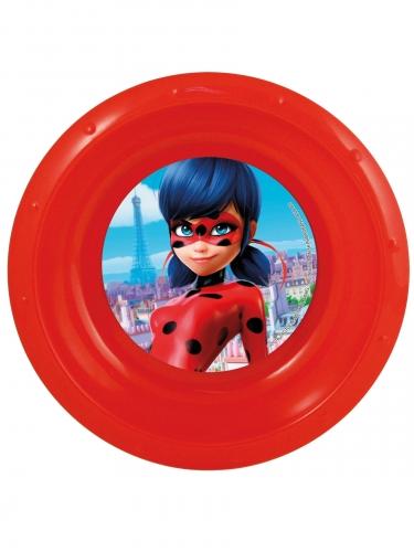 Tiefer Kunststoff-Teller Ladybug™ 16,5 cm rot