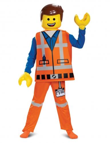 Lego-Kostüm Emmet das große Lego 2-Abenteuer bunt 128/134 (7-8 Jahre)