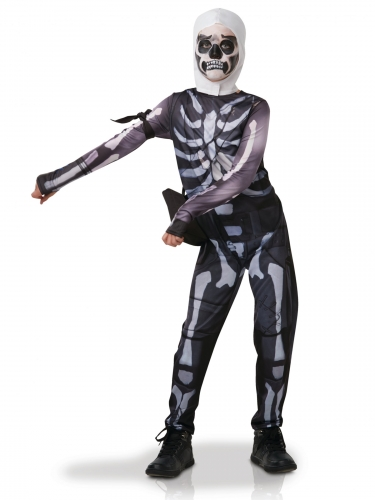 Fortnite™-Skull Trooper für Jugendliche Lizenz schwarz-weiss
