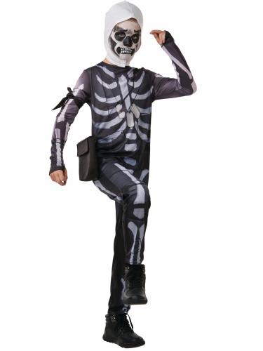 Fortnite™-Skull Trooper für Jugendliche Lizenz schwarz-weiss-1
