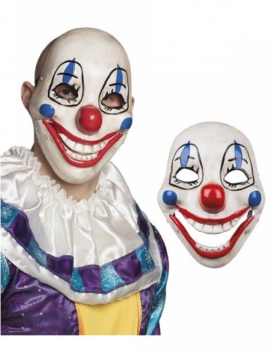 Verrückte Clownsmaske Kostümzubehör für Erwachsene bunt