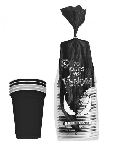 Venom™-Trinkbecher Original Cup 20 Stück schwarz-weiss 530ml-1