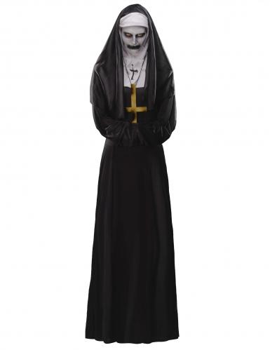 Verfluchte-Nonne Halloween-Damenkostüm-Set schwarz-weiss-1