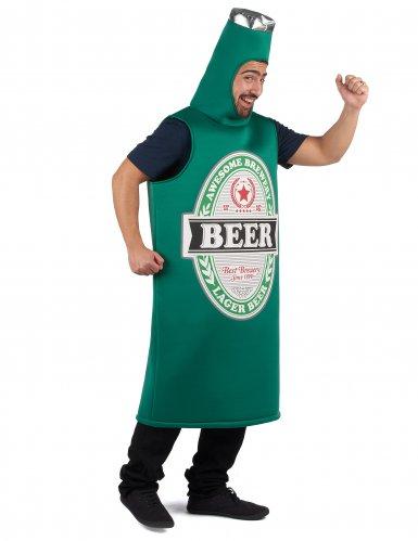 Lustiges Bier-Kostüm für Erwachsene Humor grün-weiss-schwarz-1