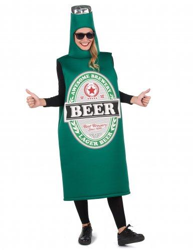 Lustiges Bier-Kostüm für Erwachsene Humor grün-weiss-schwarz-3