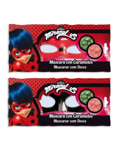 Ladybug™-Cat Noir Maske und Süßigkeiten Geschenkidee für Kinder schwarz-1