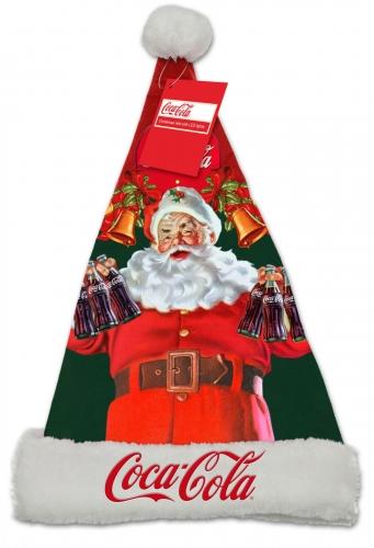 Beleuchtete Weihnachtsmann-Mütze Coca Cola™ bunt