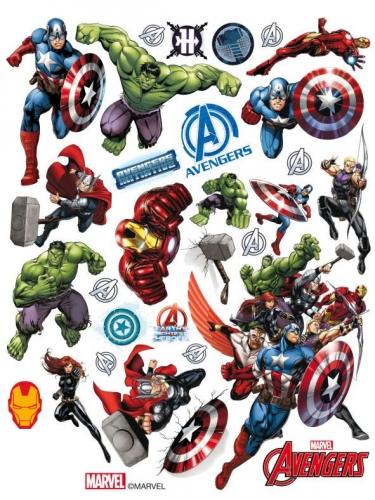 Avengers™-Fensterdeko Marvel-Stickerset bunt 30x20cm