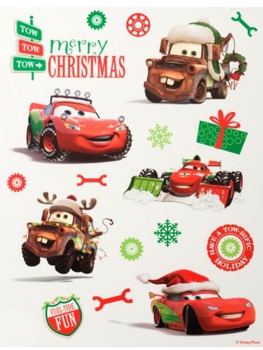 Cars™-Fenstersticker weihnachtliche-Motive bunt 42x30cm