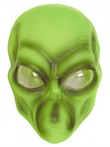 Alien-Maske Kostümzubehör für Erwachsene grün