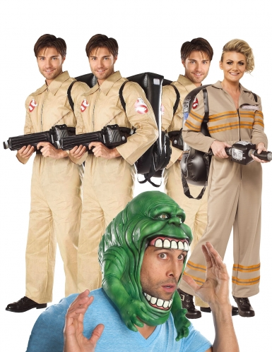 Ghostbusters™-Gruppenkostüme Geisterjäger Lizenz bunt
