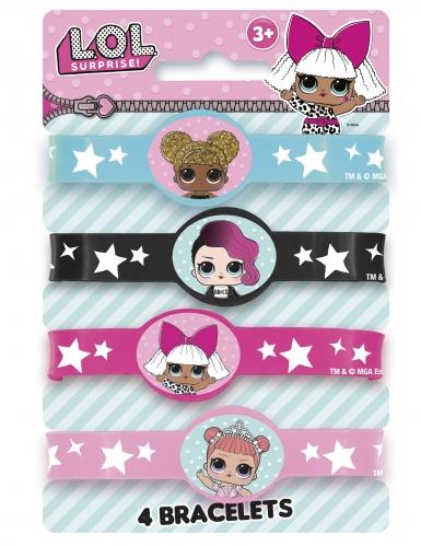 LOL Surprise™ Armband-Set 4 Stück für Mädchen bunt