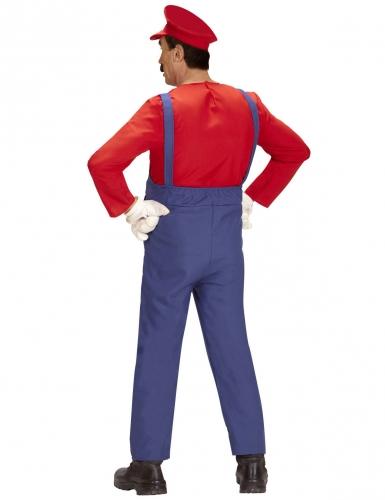 Klempner-Herrenkostüm Retro-Verkleidung blau-rot-2