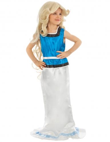 Falbala™-Mädchenkostüm Asterix und Obelix™-Verkleidung blau-weiss