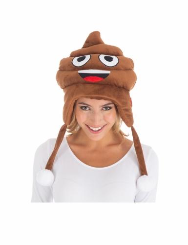 Witzige Kackhaufen Emoji™ Mütze für Erwachsene-1