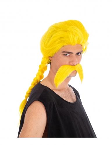 Verleihnix™-Perücke und Bart für Herren gelb