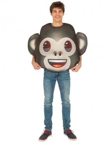 Emoji™-Affe Unisex-Kostüm für Erwachsene braun